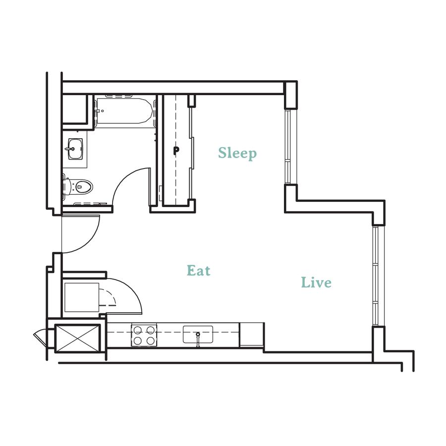 Studio 1 Bathroom Apartment for rent at Higby Apartments in Berkeley, CA