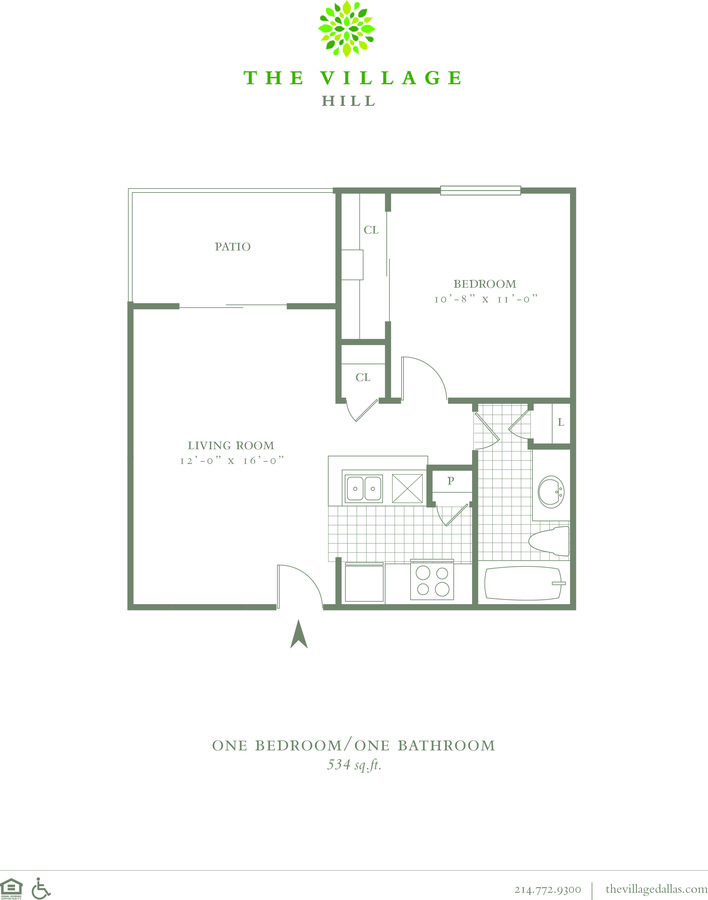 1 Bedroom 1 Bathroom Apartment for rent at The Village Hill in Dallas, TX