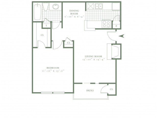 1 Bedroom 1 Bathroom Apartment for rent at The Village Lakes in Dallas, TX