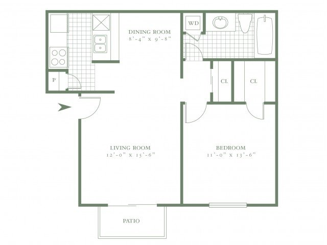 1 Bedroom 1 Bathroom Apartment for rent at The Village Green I in Dallas, TX