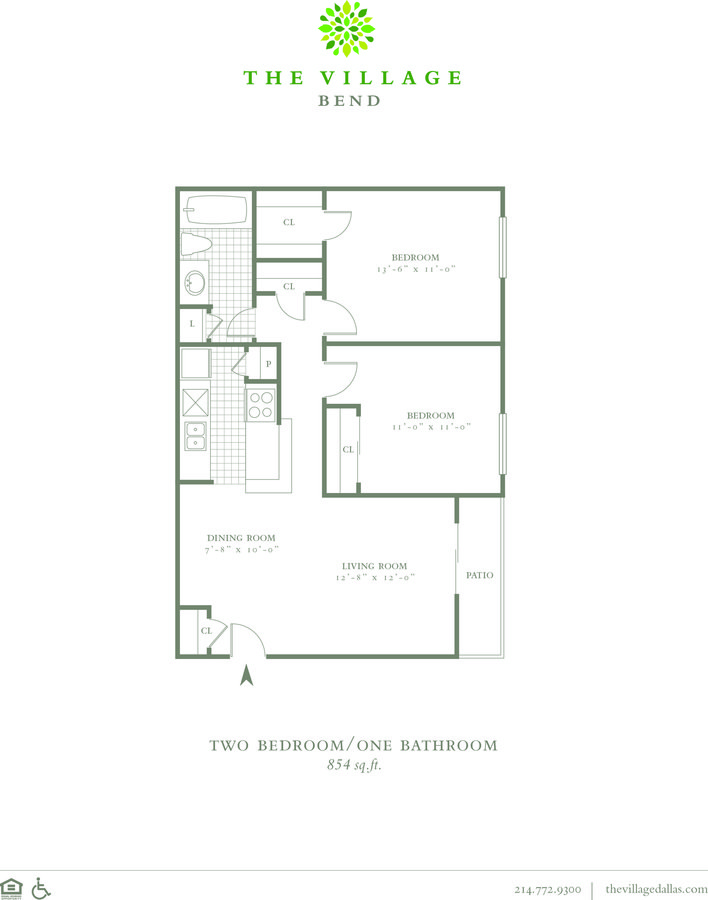 2 Bedrooms 1 Bathroom Apartment for rent at The Village Bend in Dallas, TX