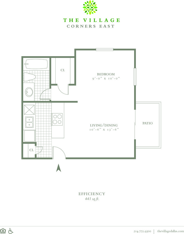 Studio 1 Bathroom Apartment for rent at The Village Corners East in Dallas, TX
