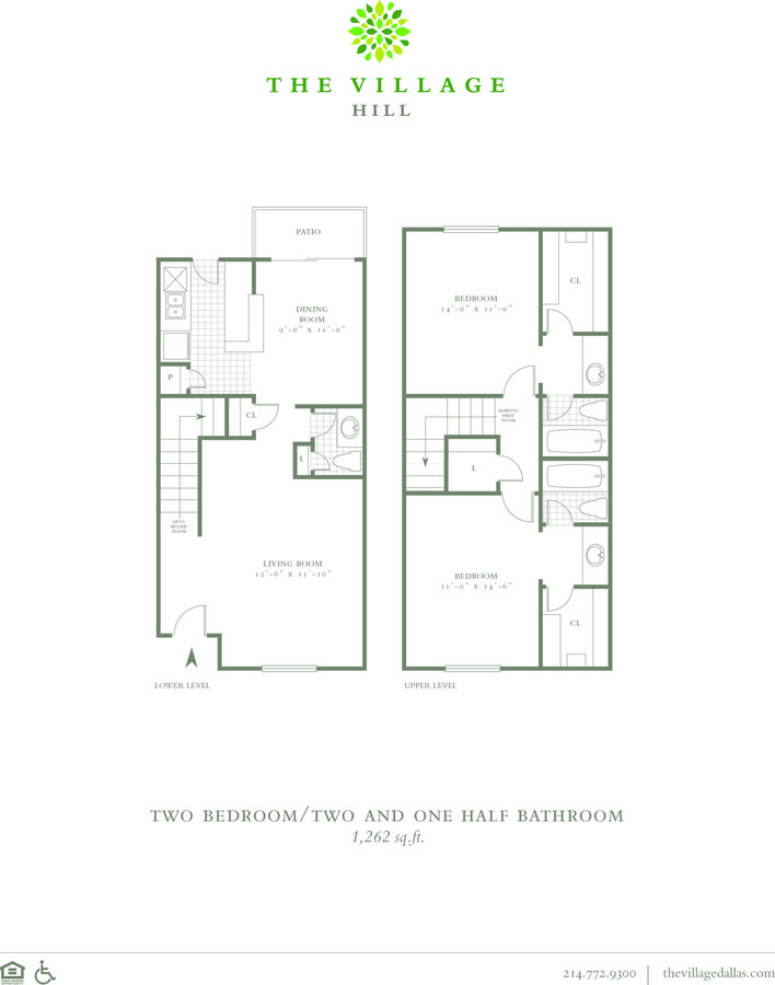 2 Bedrooms 2 Bathrooms Apartment for rent at The Village Hill in Dallas, TX