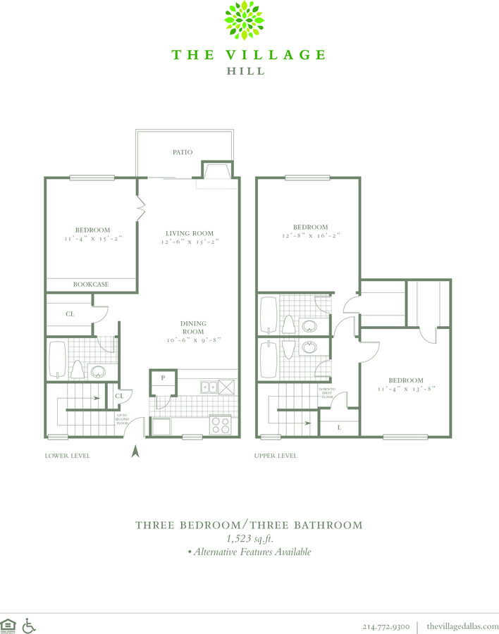 3 Bedrooms 3 Bathrooms Apartment for rent at The Village Hill in Dallas, TX