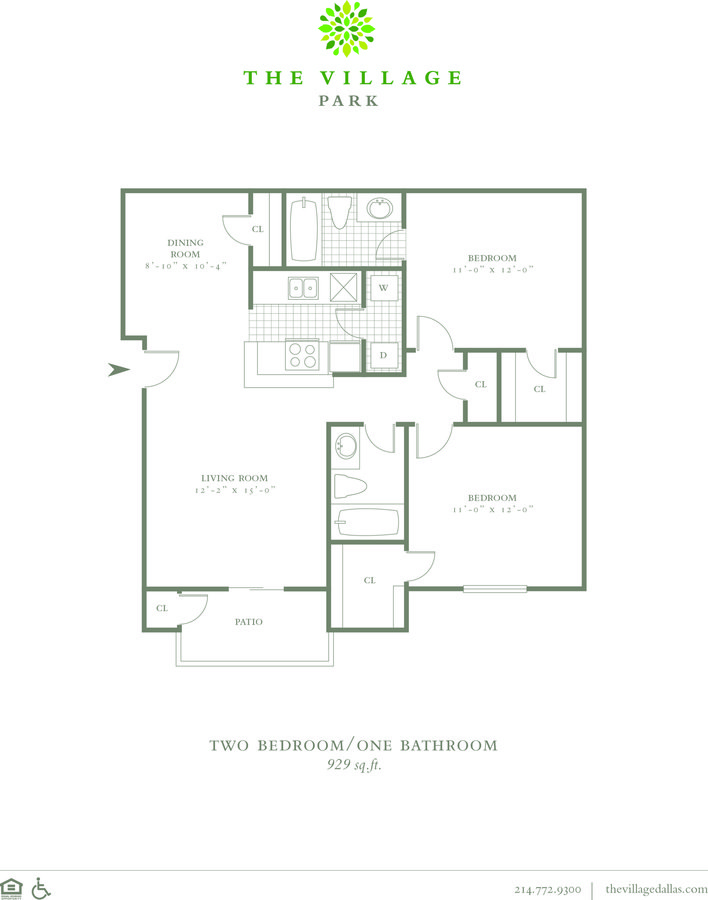 2 Bedrooms 2 Bathrooms Apartment for rent at The Village Park in Dallas, TX