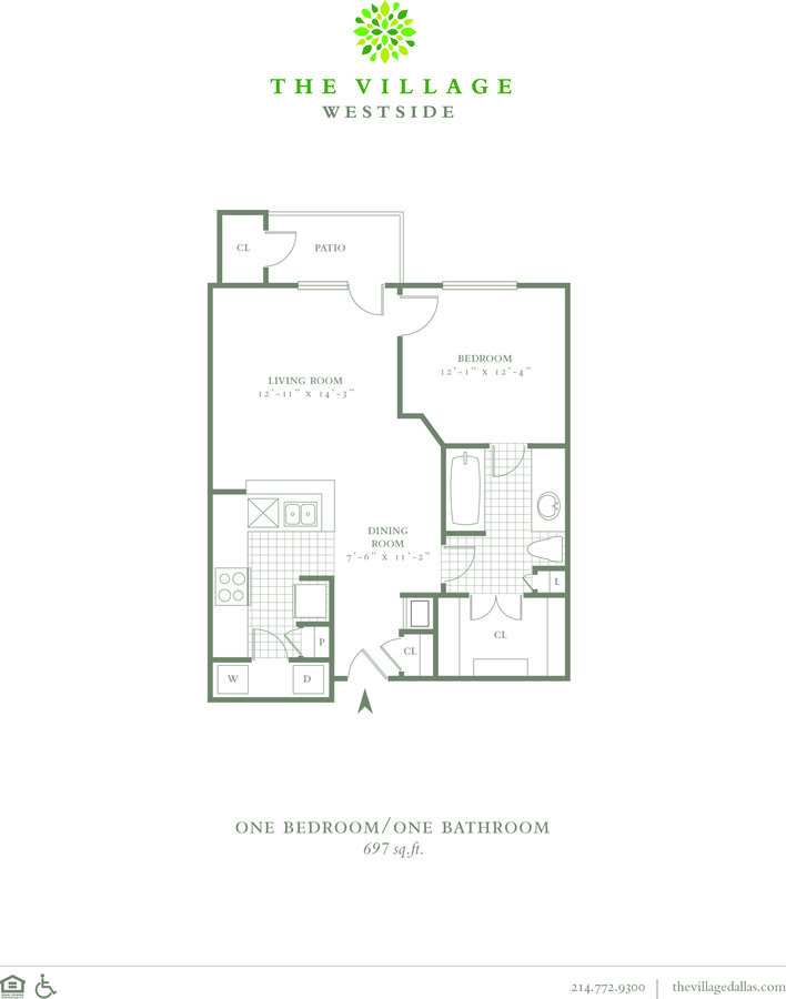 1 Bedroom 1 Bathroom Apartment for rent at The Village Westside in Dallas, TX