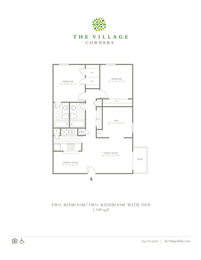 2 Bedrooms 2 Bathrooms Apartment for rent at The Village Corners in Dallas, TX