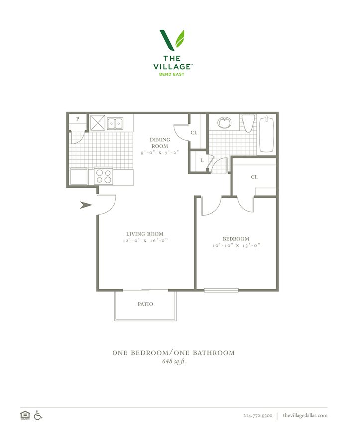 1 Bedroom 1 Bathroom Apartment for rent at The Village Bend East in Dallas, TX