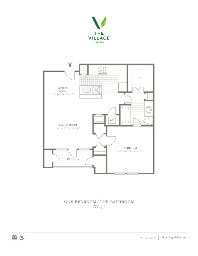 1 Bedroom 1 Bathroom Apartment for rent at The Village Dakota in Dallas, TX