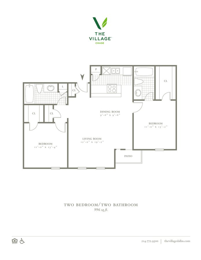 2 Bedrooms 2 Bathrooms Apartment for rent at The Village Chase in Dallas, TX