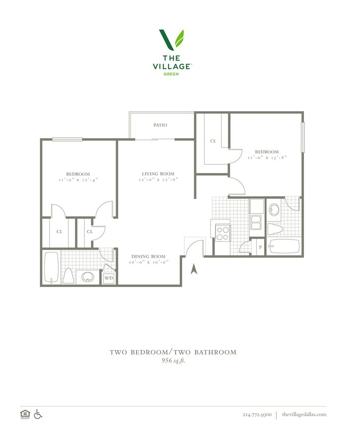 2 Bedrooms 2 Bathrooms Apartment for rent at The Village Green I in Dallas, TX