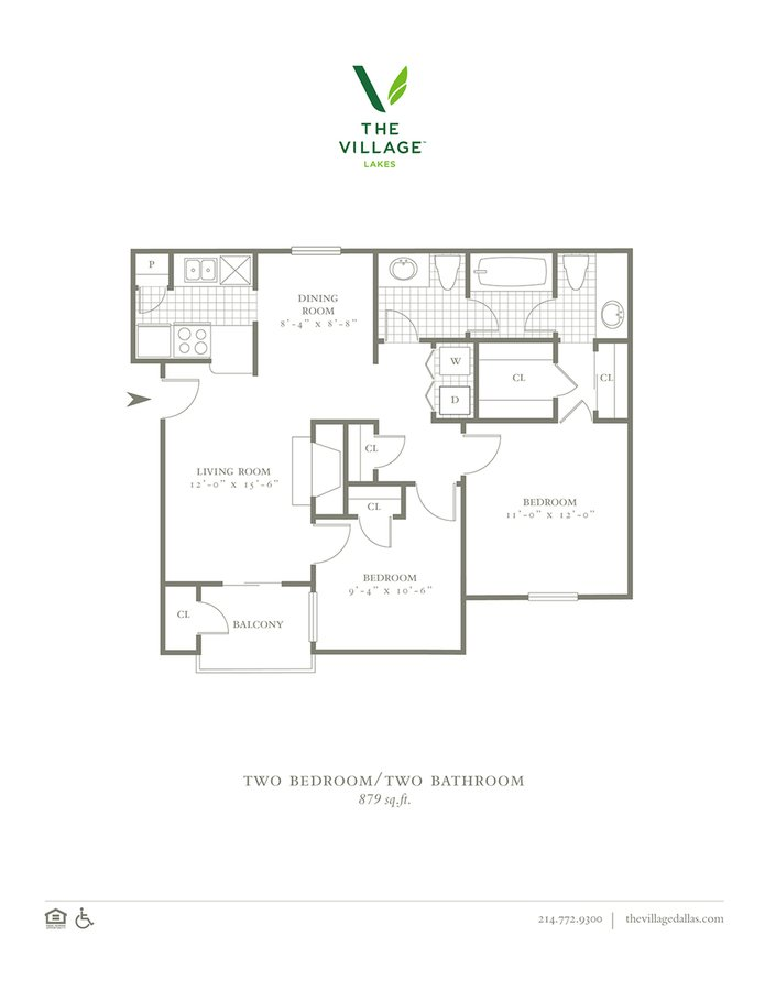 2 Bedrooms 1 Bathroom Apartment for rent at The Village Lakes in Dallas, TX