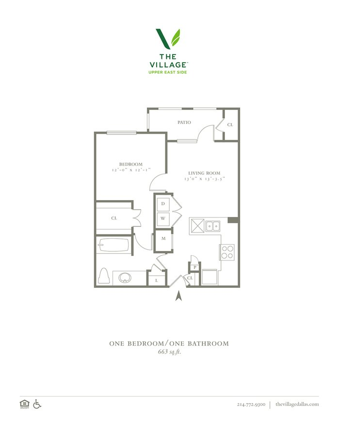 1 Bedroom 1 Bathroom Apartment for rent at The Village Upper East Side in Dallas, TX