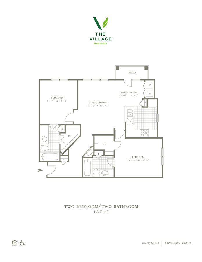 2 Bedrooms 2 Bathrooms Apartment for rent at The Village Westside in Dallas, TX