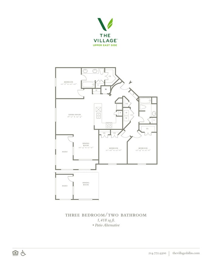 3 Bedrooms 2 Bathrooms Apartment for rent at The Village Upper East Side in Dallas, TX