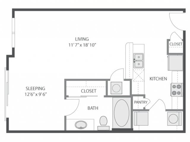 Studio 1 Bathroom Apartment for rent at Amli South Shore in Austin, TX