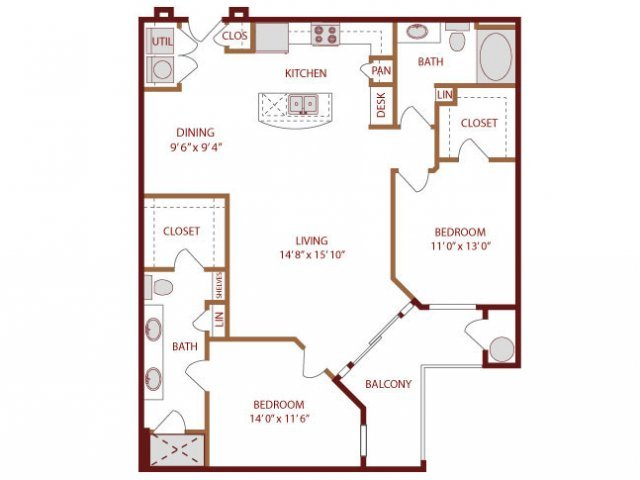 2 Bedrooms 2 Bathrooms Apartment for rent at Amli Park Avenue in Denver, CO