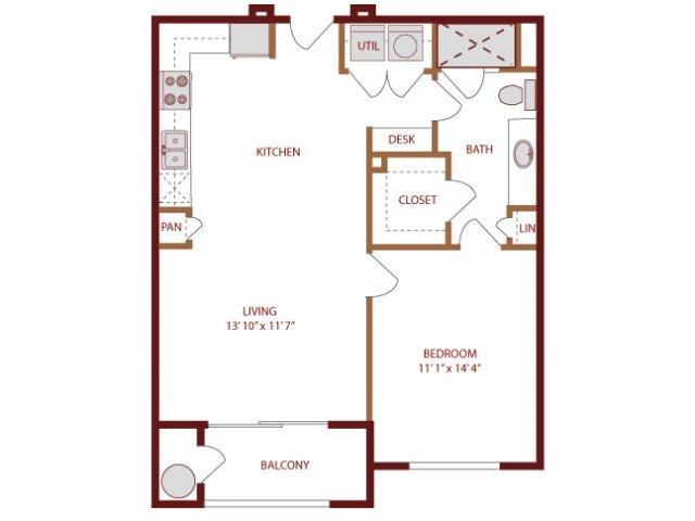 1 Bedroom 1 Bathroom Apartment for rent at Amli Park Avenue in Denver, CO