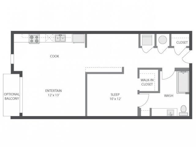1 Bedroom 1 Bathroom Apartment for rent at Amli Old 4th Ward in Atlanta, GA