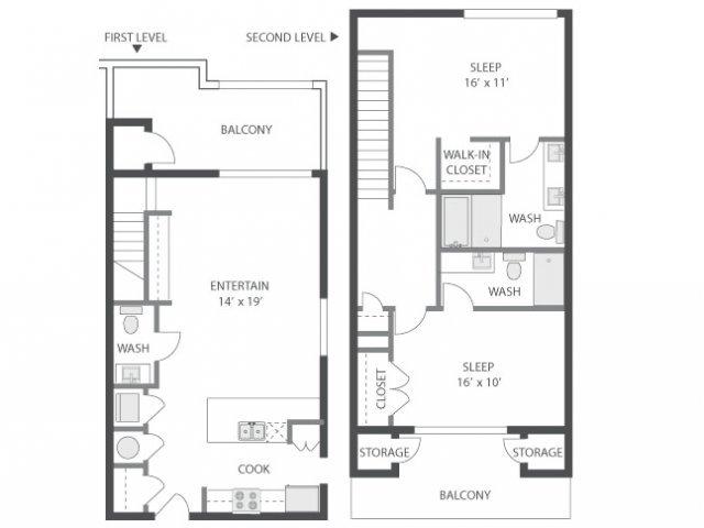 2 Bedrooms 2 Bathrooms Apartment for rent at Amli Old 4th Ward in Atlanta, GA