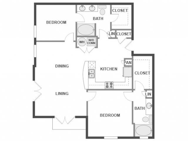 2 Bedrooms 2 Bathrooms Apartment for rent at AMLI 300 in Austin, TX