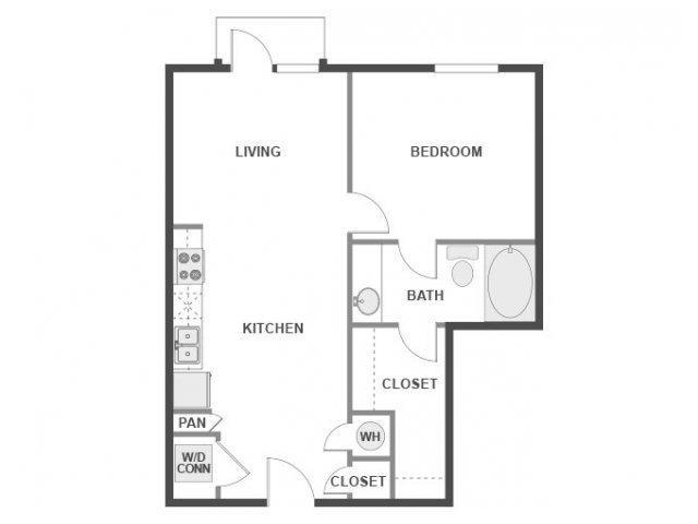 1 Bedroom 1 Bathroom Apartment for rent at AMLI 300 in Austin, TX