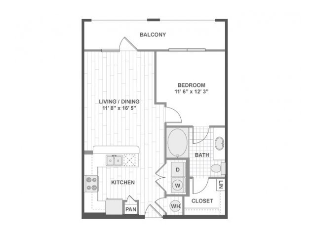 1 Bedroom 1 Bathroom Apartment for rent at Amli On Maple in Dallas, TX