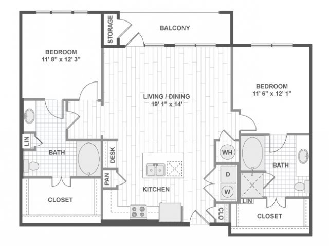 2 Bedrooms 2 Bathrooms Apartment for rent at Amli On Maple in Dallas, TX