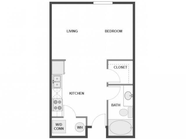 Studio 1 Bathroom Apartment for rent at AMLI 300 in Austin, TX
