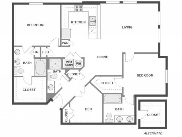 2 Bedrooms 3 Bathrooms Apartment for rent at AMLI 300 in Austin, TX