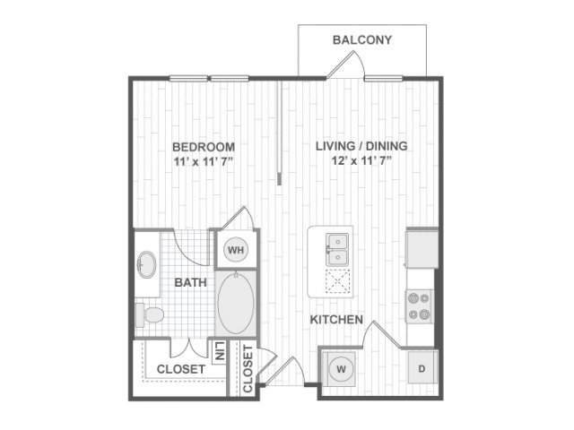 Studio 1 Bathroom Apartment for rent at Amli On Maple in Dallas, TX