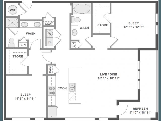 2 Bedrooms 2 Bathrooms Apartment for rent at Amli Piedmont Heights in Atlanta, GA