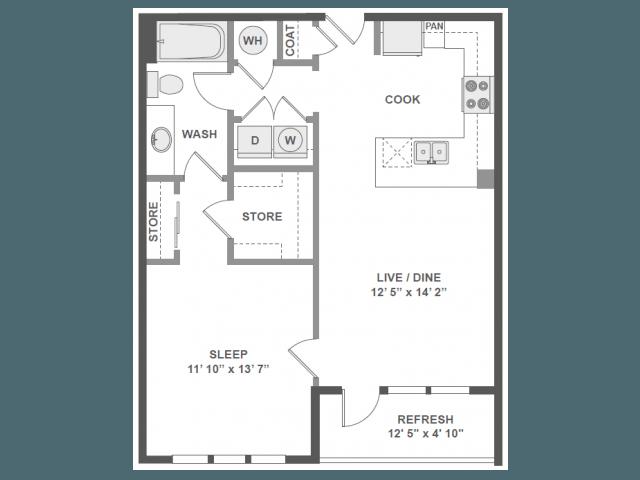 1 Bedroom 1 Bathroom Apartment for rent at Amli Piedmont Heights in Atlanta, GA