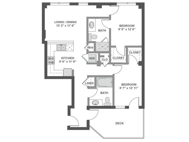 2 Bedrooms 2 Bathrooms Apartment for rent at AMLI South Lake Union in Seattle, WA