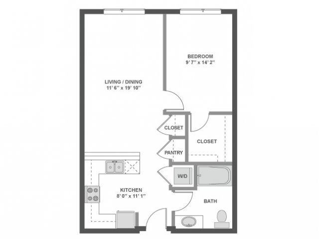 1 Bedroom 1 Bathroom Apartment for rent at AMLI South Lake Union in Seattle, WA