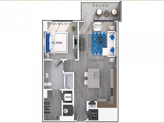 1 Bedroom 1 Bathroom Apartment for rent at Amli Lenox in Atlanta, GA