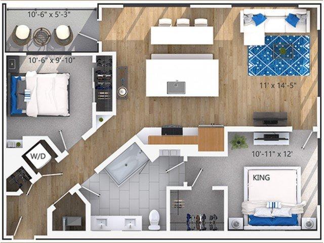 2 Bedrooms 1 Bathroom Apartment for rent at Amli Lenox in Atlanta, GA