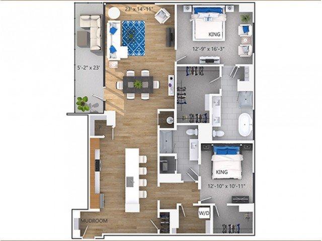 2 Bedrooms 2 Bathrooms Apartment for rent at Amli Lenox in Atlanta, GA