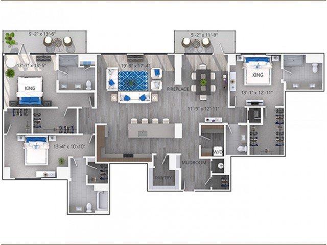 3 Bedrooms 2 Bathrooms Apartment for rent at Amli Lenox in Atlanta, GA