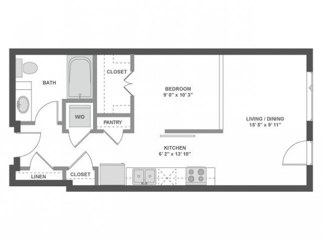 Studio 1 Bathroom Apartment for rent at AMLI South Lake Union in Seattle, WA