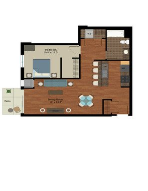 1 Bedroom 1 Bathroom Apartment for rent at Longfellow Lofts in Madison, WI
