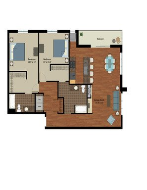 2 Bedrooms 2 Bathrooms Apartment for rent at Longfellow Lofts in Madison, WI