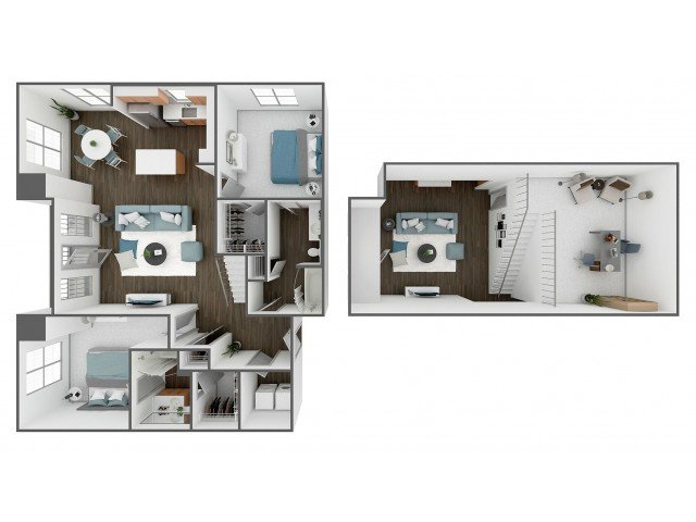 2 Bedrooms 2 Bathrooms Apartment for rent at Station Nine in Durham, NC
