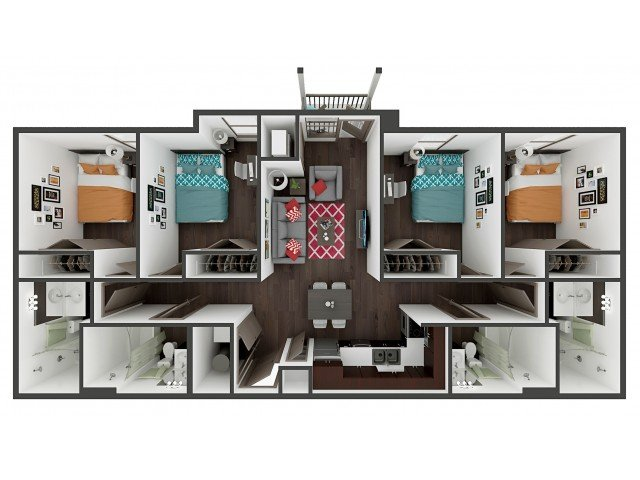 4 Bedrooms 4+ Bathrooms Apartment for rent at Academy Lincoln in Lincoln, NE