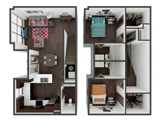 2 Bedrooms 2 Bathrooms Apartment for rent at Academy Lincoln in Lincoln, NE