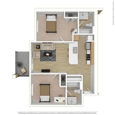 2 Bedrooms 2 Bathrooms Apartment for rent at Campus Court At Red Mile in Lexington, KY