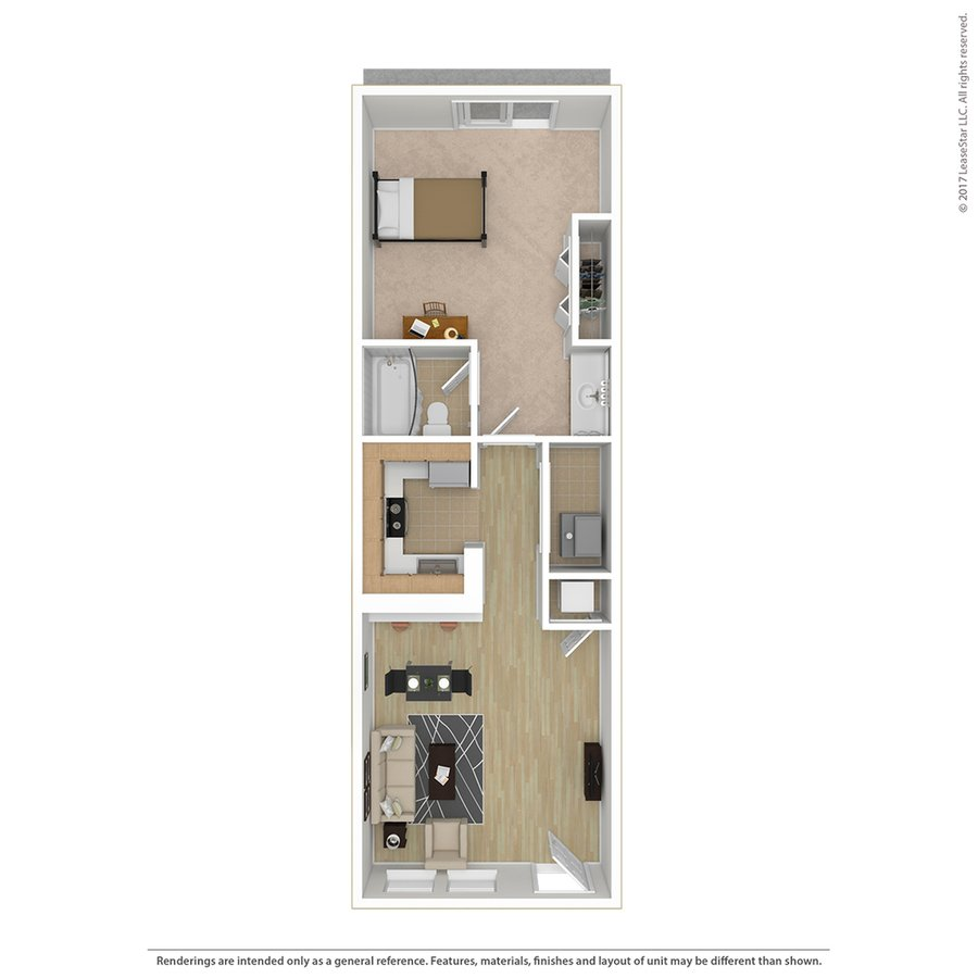 1 Bedroom 1 Bathroom Apartment for rent at Campus Court At Red Mile in Lexington, KY