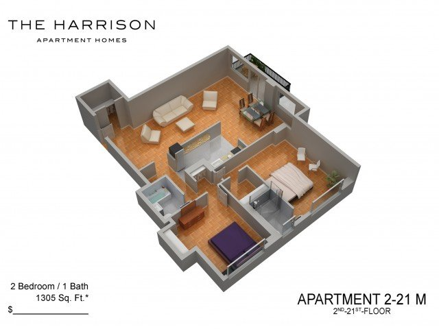 2 Bedrooms 1 Bathroom Apartment for rent at The Harrison in Somerset, NJ