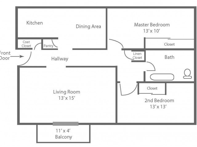 2 Bedrooms 1 Bathroom Apartment for rent at Livingstone in Hatboro, PA