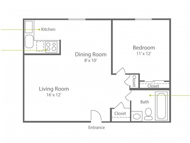 1 Bedroom 1 Bathroom Apartment for rent at The Wellington in Hatboro, PA